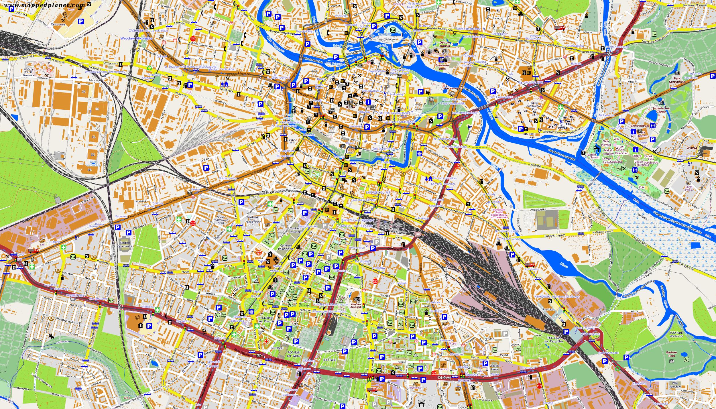 City maps Wrocaw