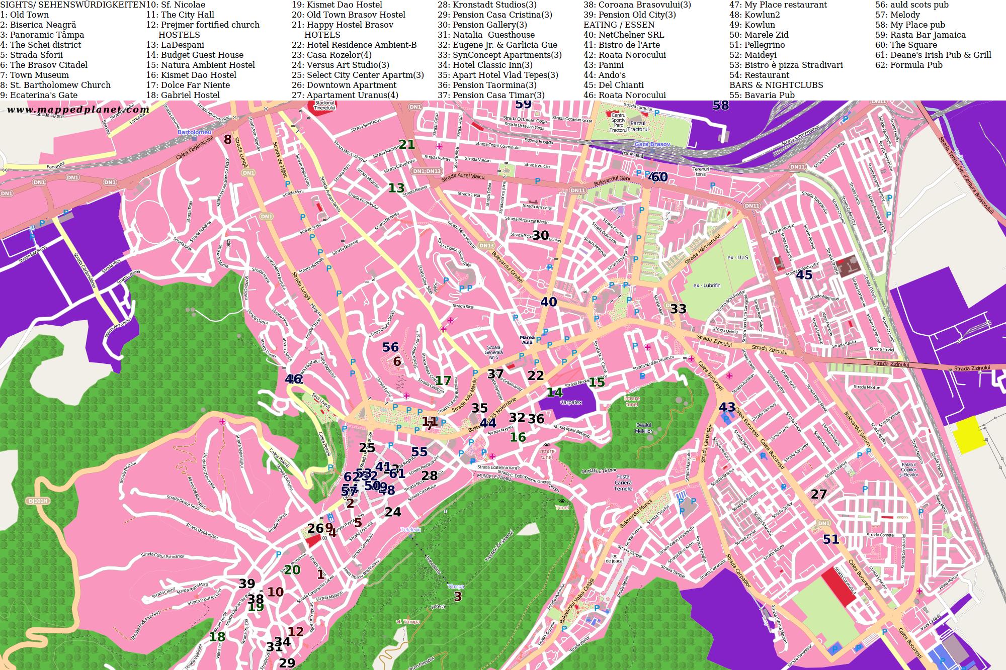 City maps Braov