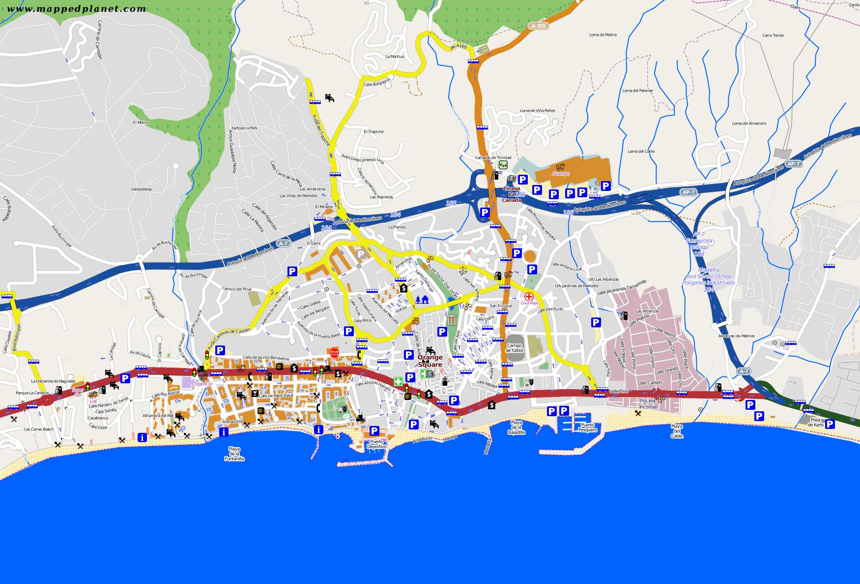Map Marbella My blog