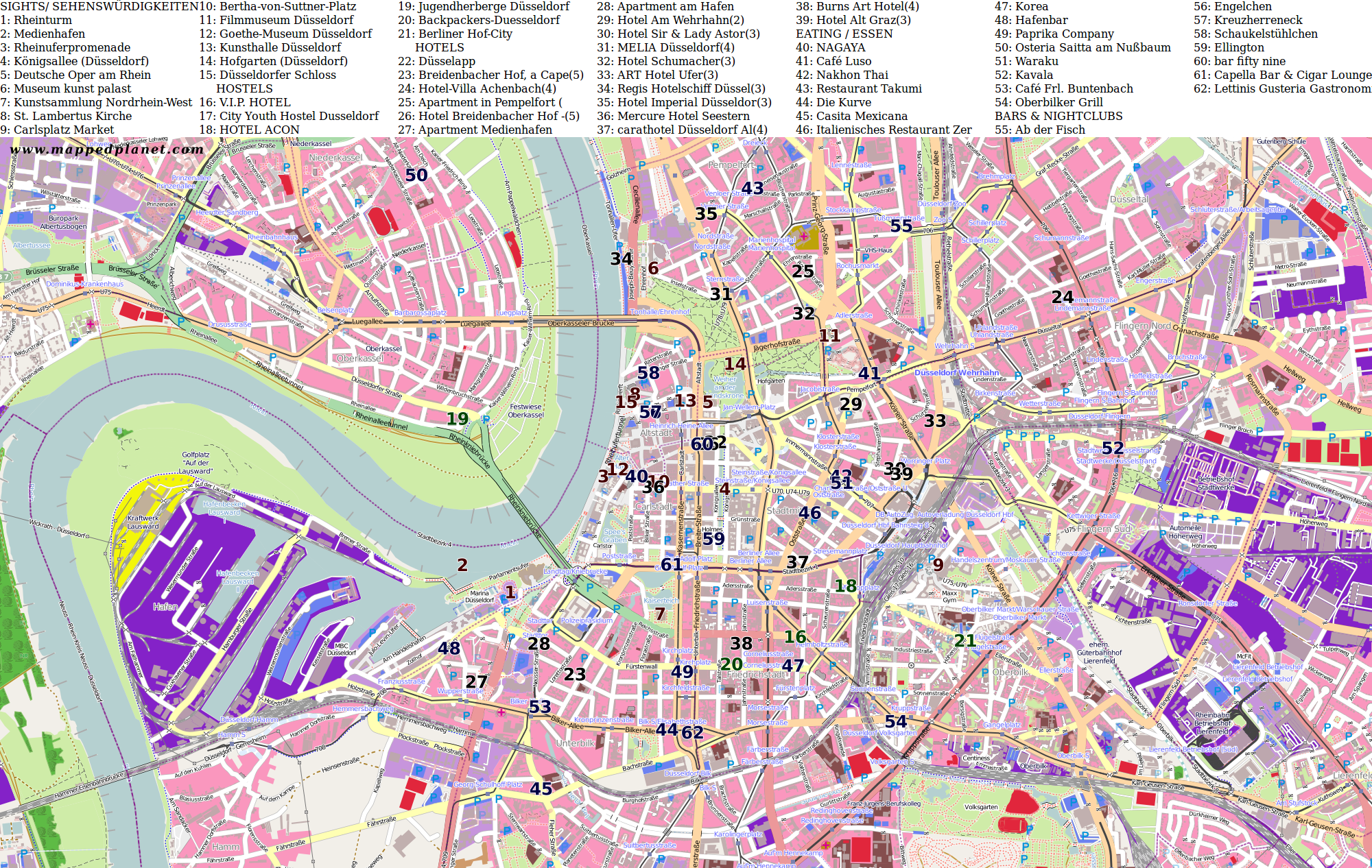 Düsseldorf Karte.Karten Und Stadtpläne Düsseldorf