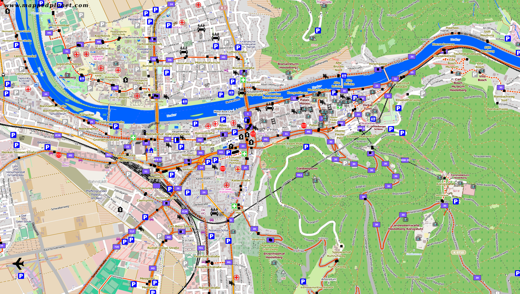 local traffic map heidelberg legend