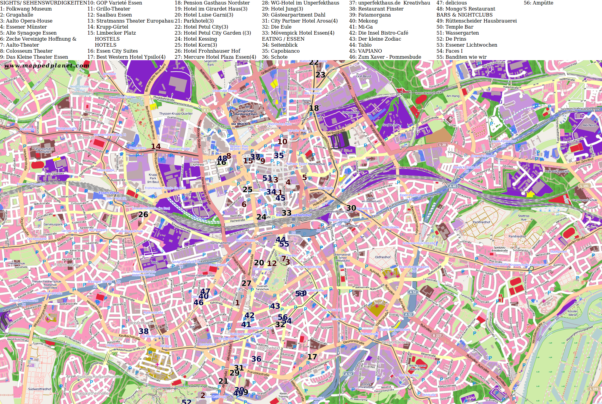 Karte Essen.Karten Und Stadtpläne Essen