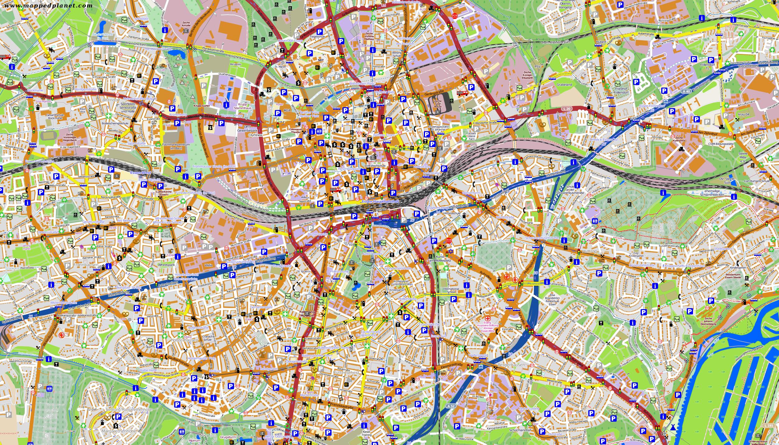 City maps Essen