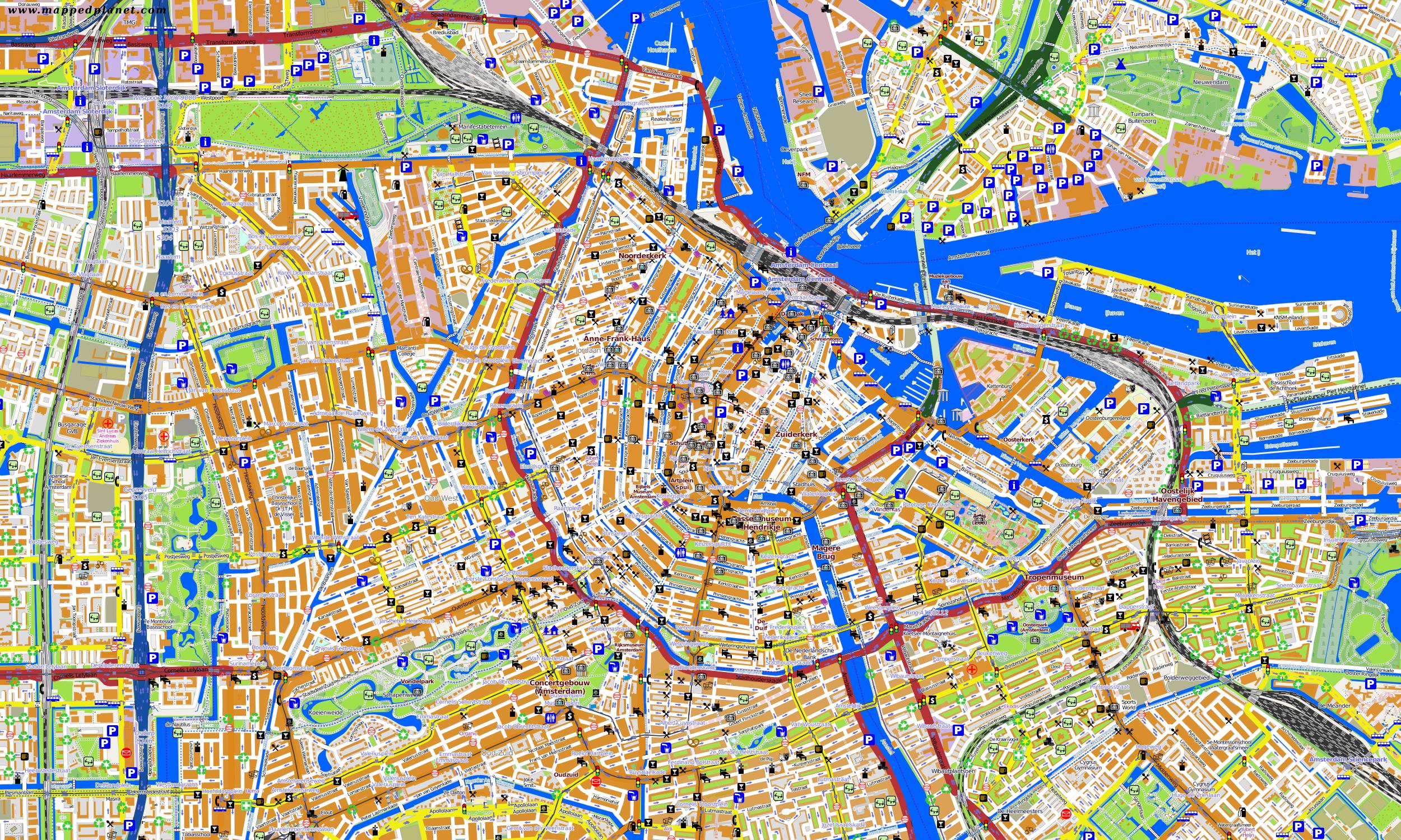 City maps Amsterdam