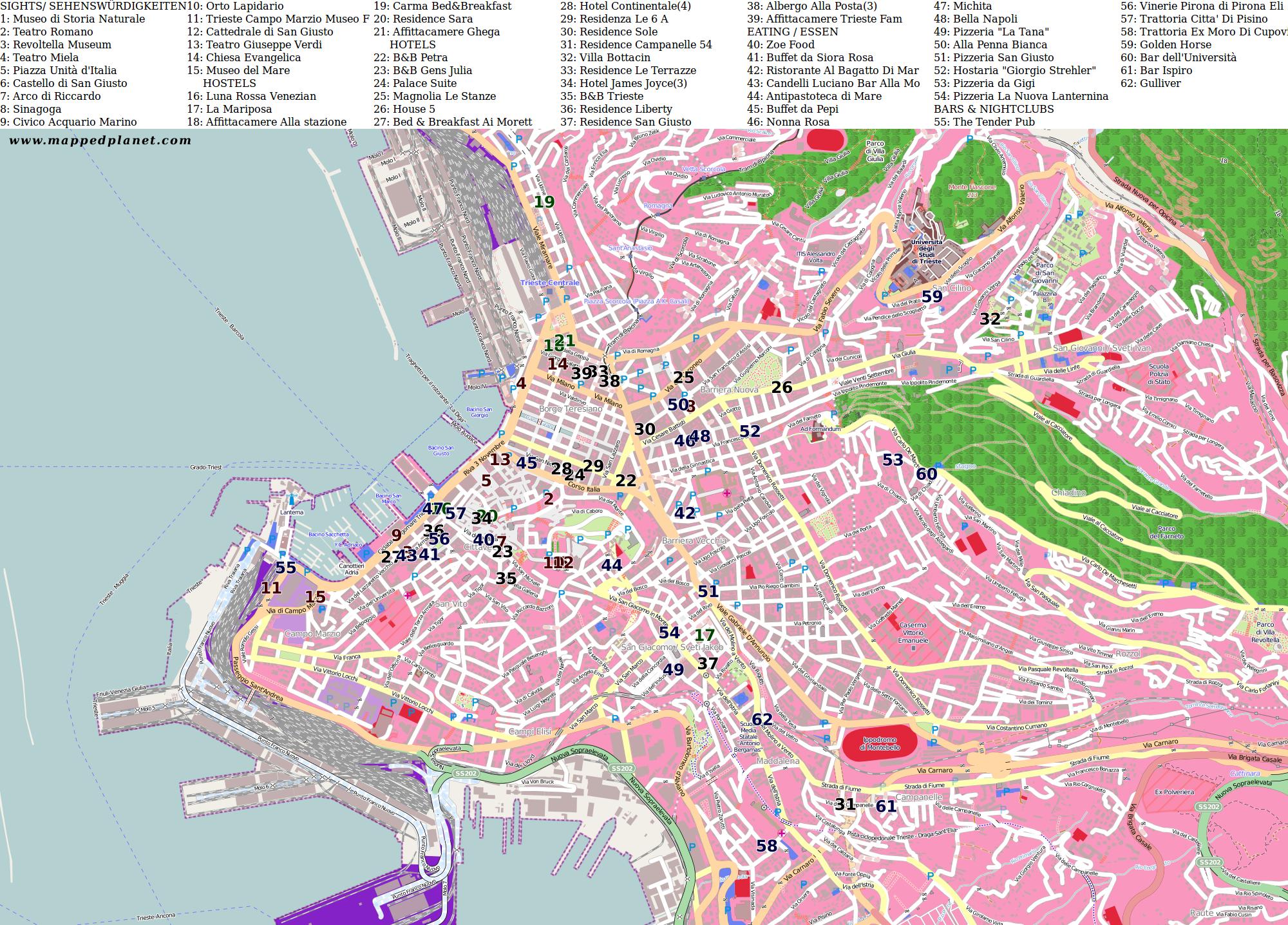 City maps Trieste