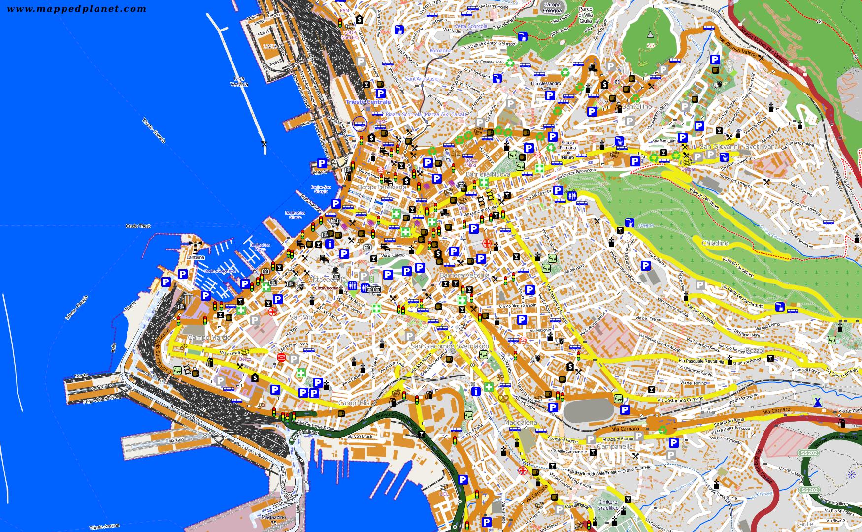 City Maps Trieste - Trieste map