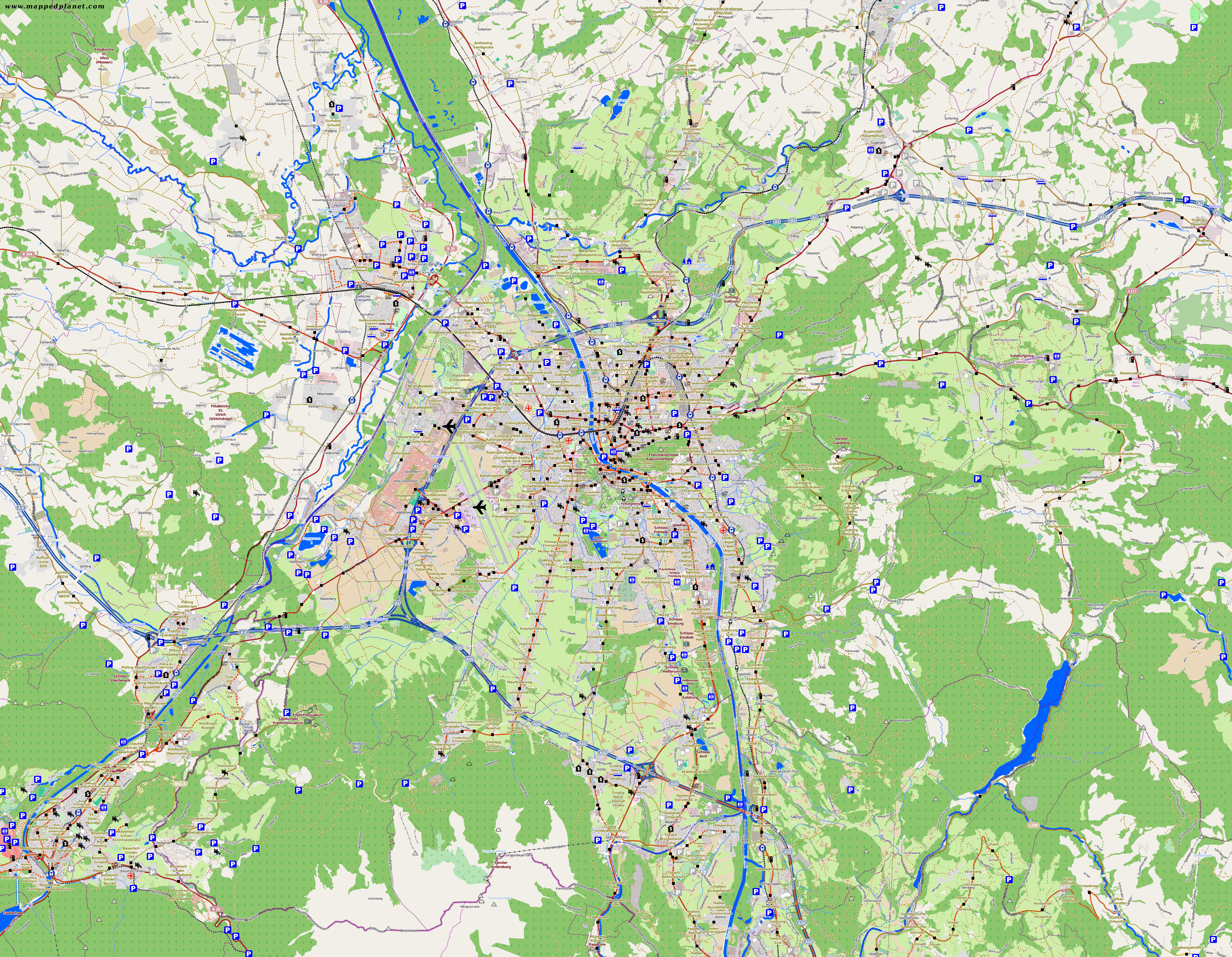 City maps Salzburg