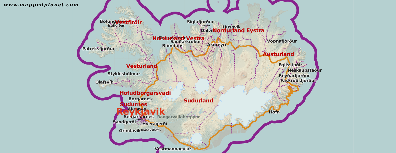 Country maps Iceland