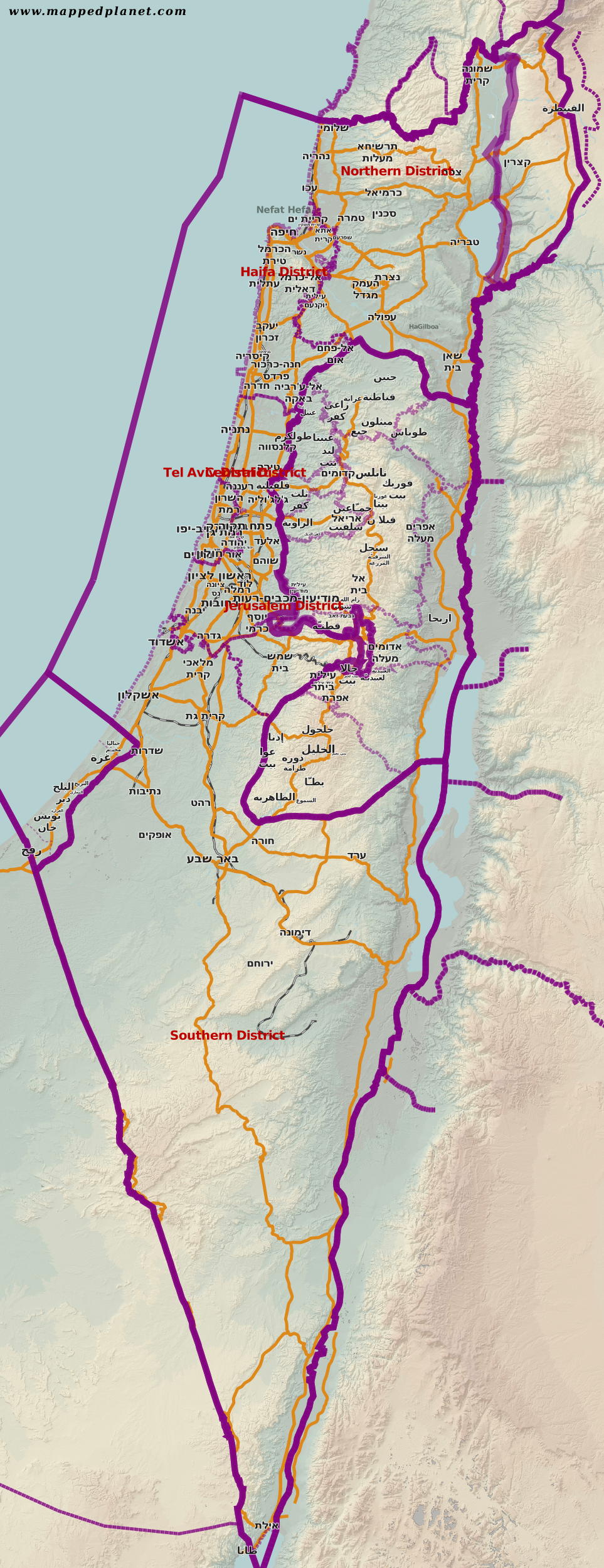 Country maps Israel