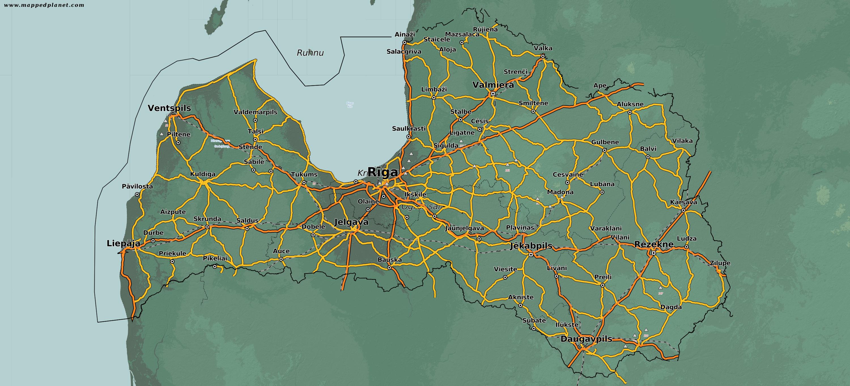 Country maps Latvia