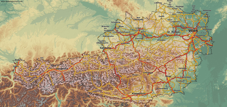 Country Maps Austria - Graz austria map