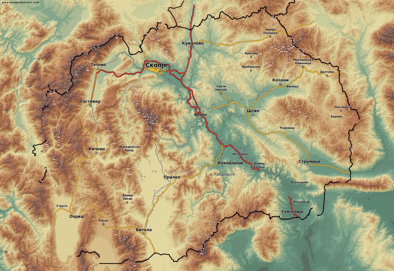 Mazedonien Karte.Karten Und Stadtpläne Mazedonien