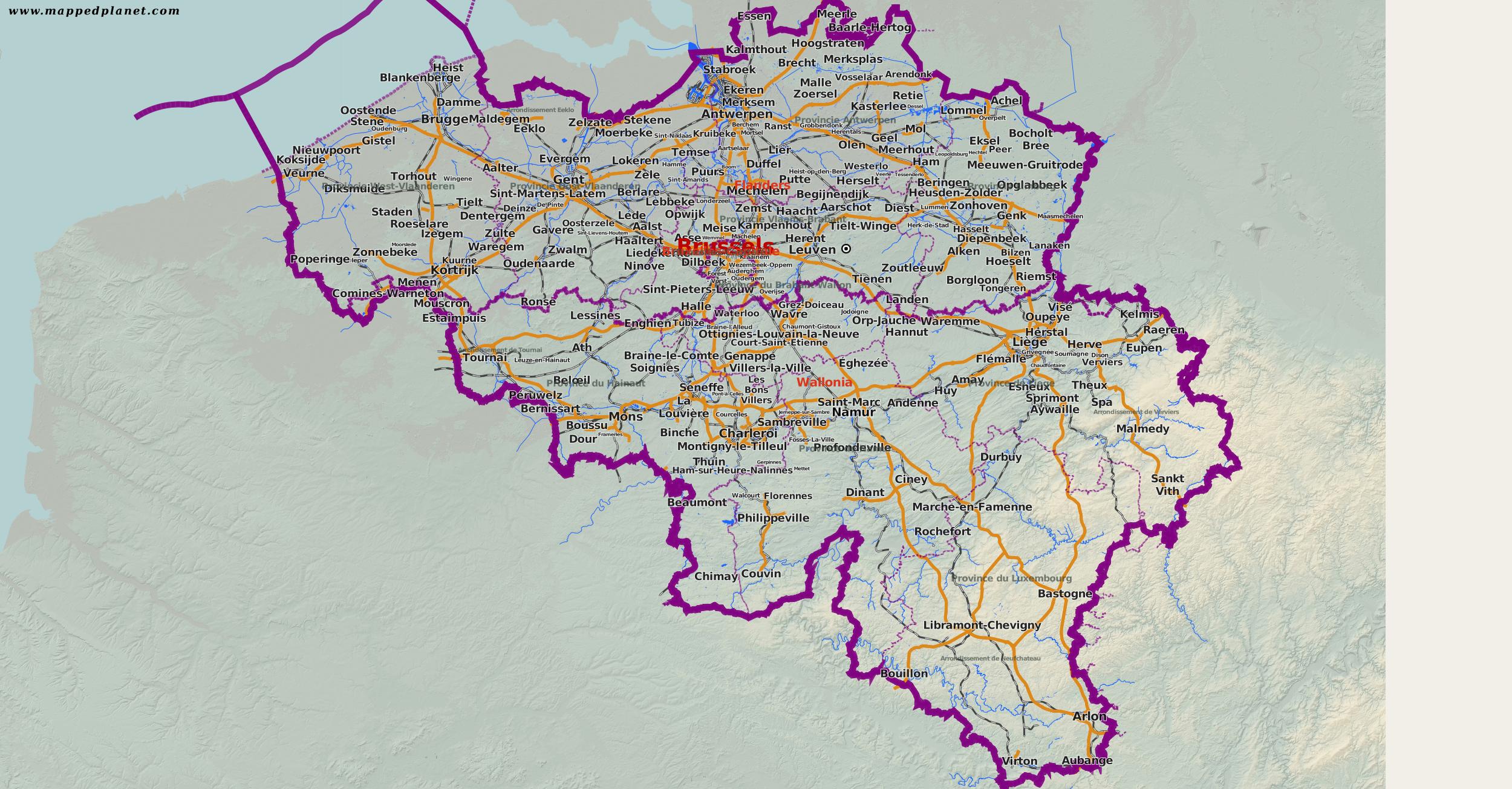 Country maps Belgium
