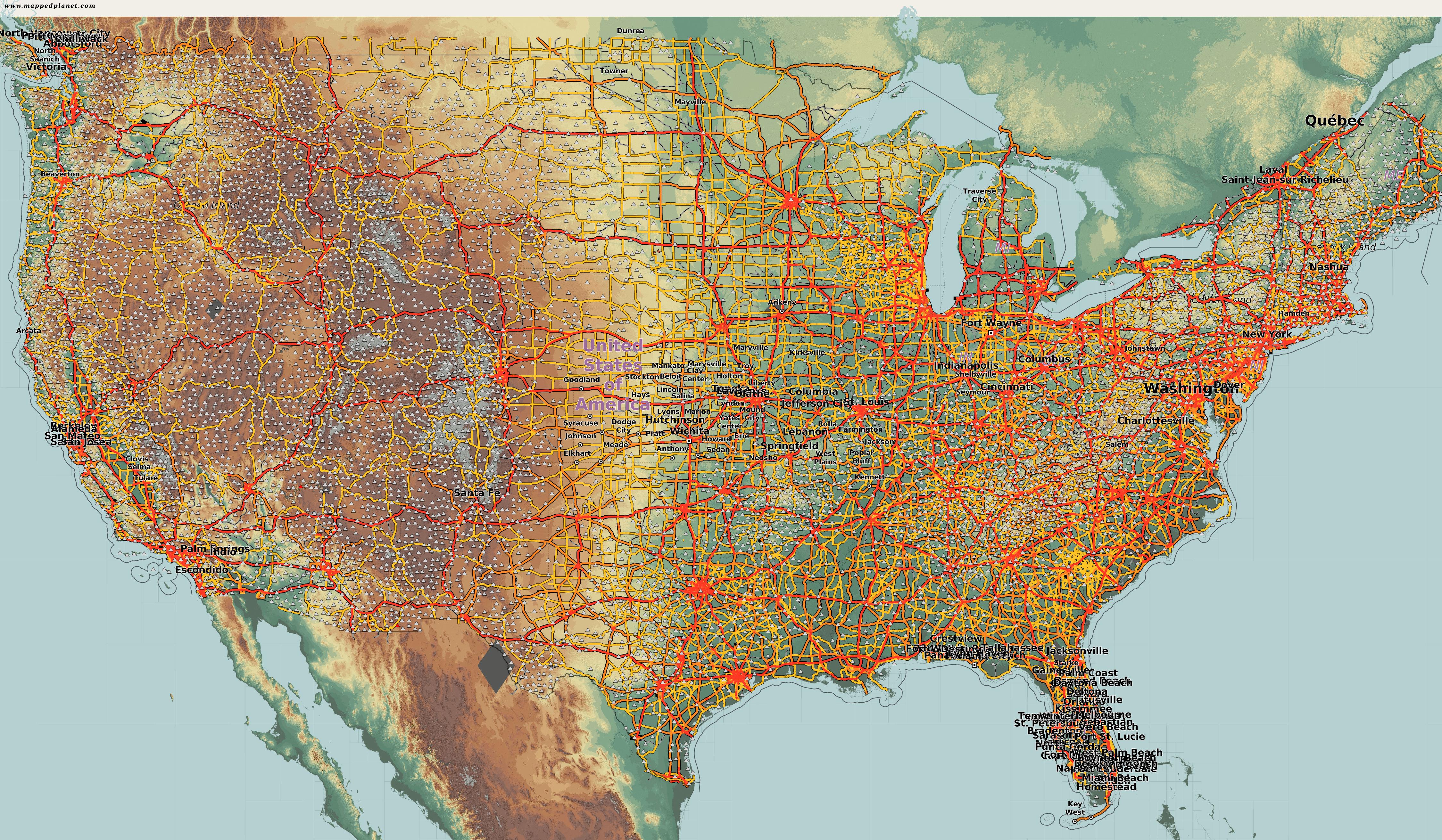 Karte Usa.Karten Und Stadtplane Usa