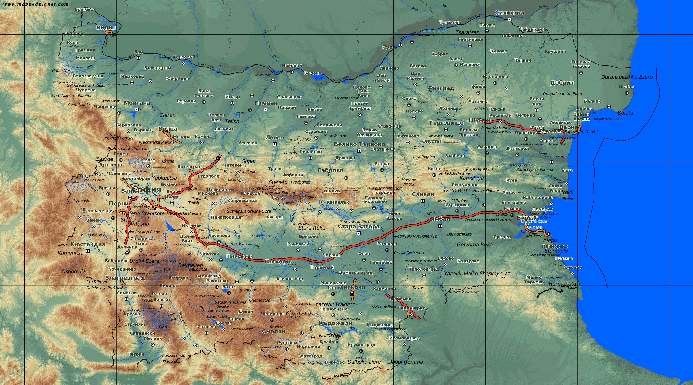 Karte Bulgarien.Karten Und Stadtplane Bulgarien