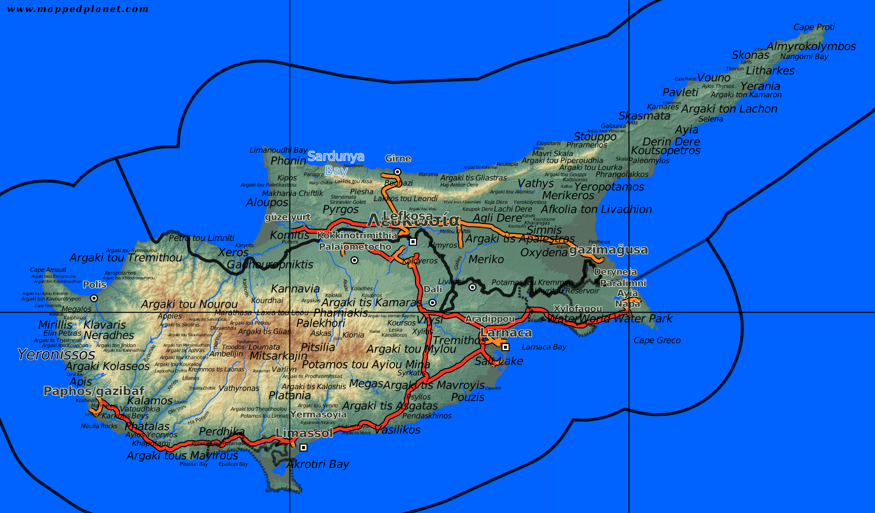 Country Maps Cyprus - Cyprus map png