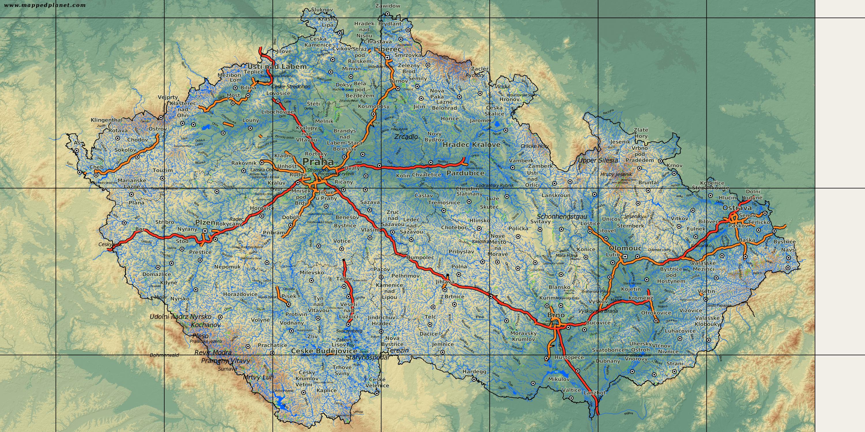 Karte Tschechien.Karten Und Stadtpläne Tschechische Republik