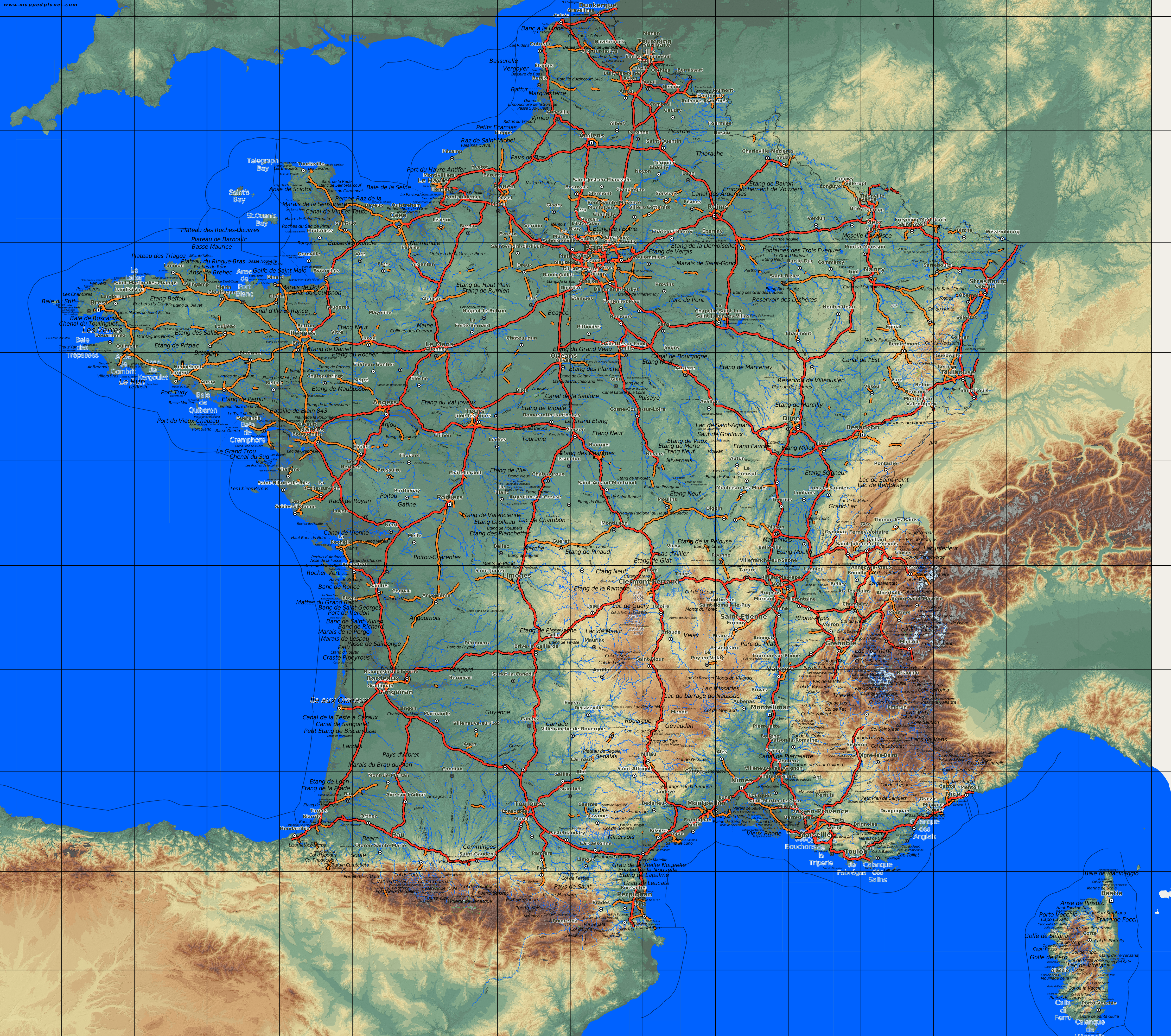Map Of Southern France Cities.South Of France Cities Map