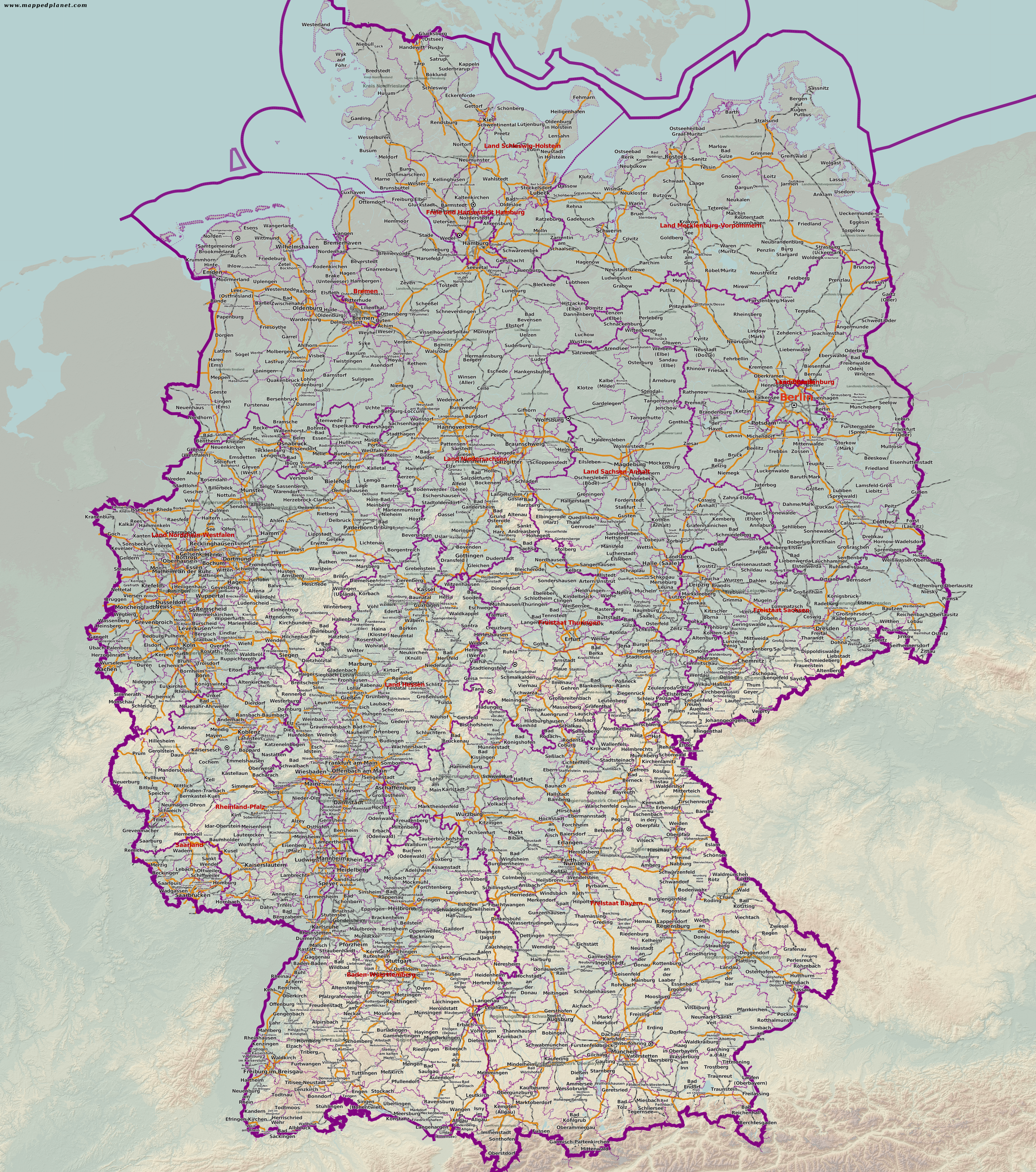 Country maps Germany