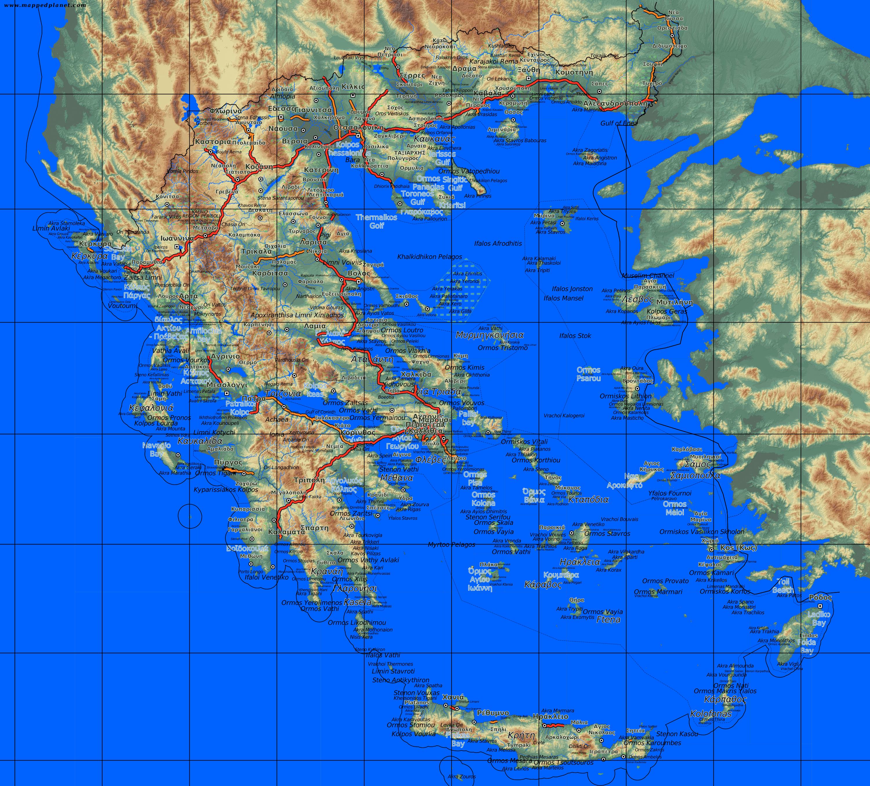 Karte Griechenland.Karten Und Stadtpläne Griechenland