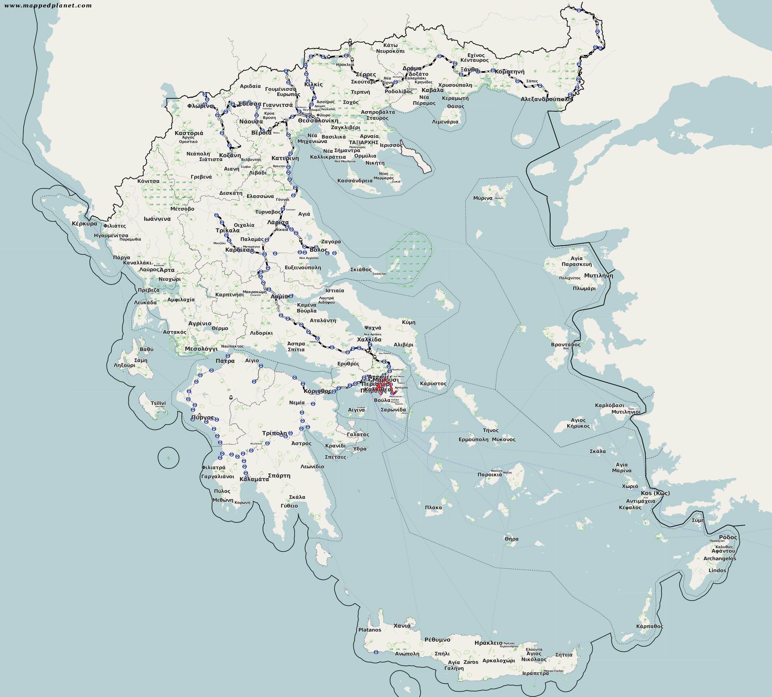 eisenbahn griechenland karte Karten und Stadtpläne Griechenland