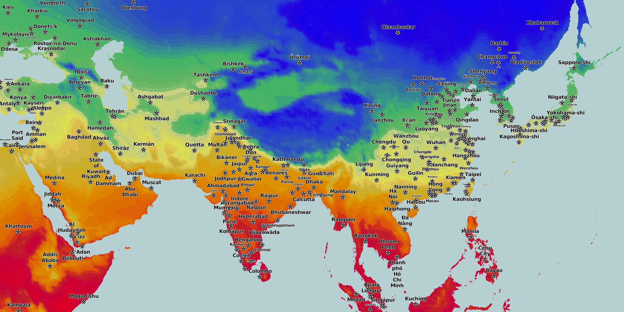 Karte Asien.Karten Und Stadtpläne Asien