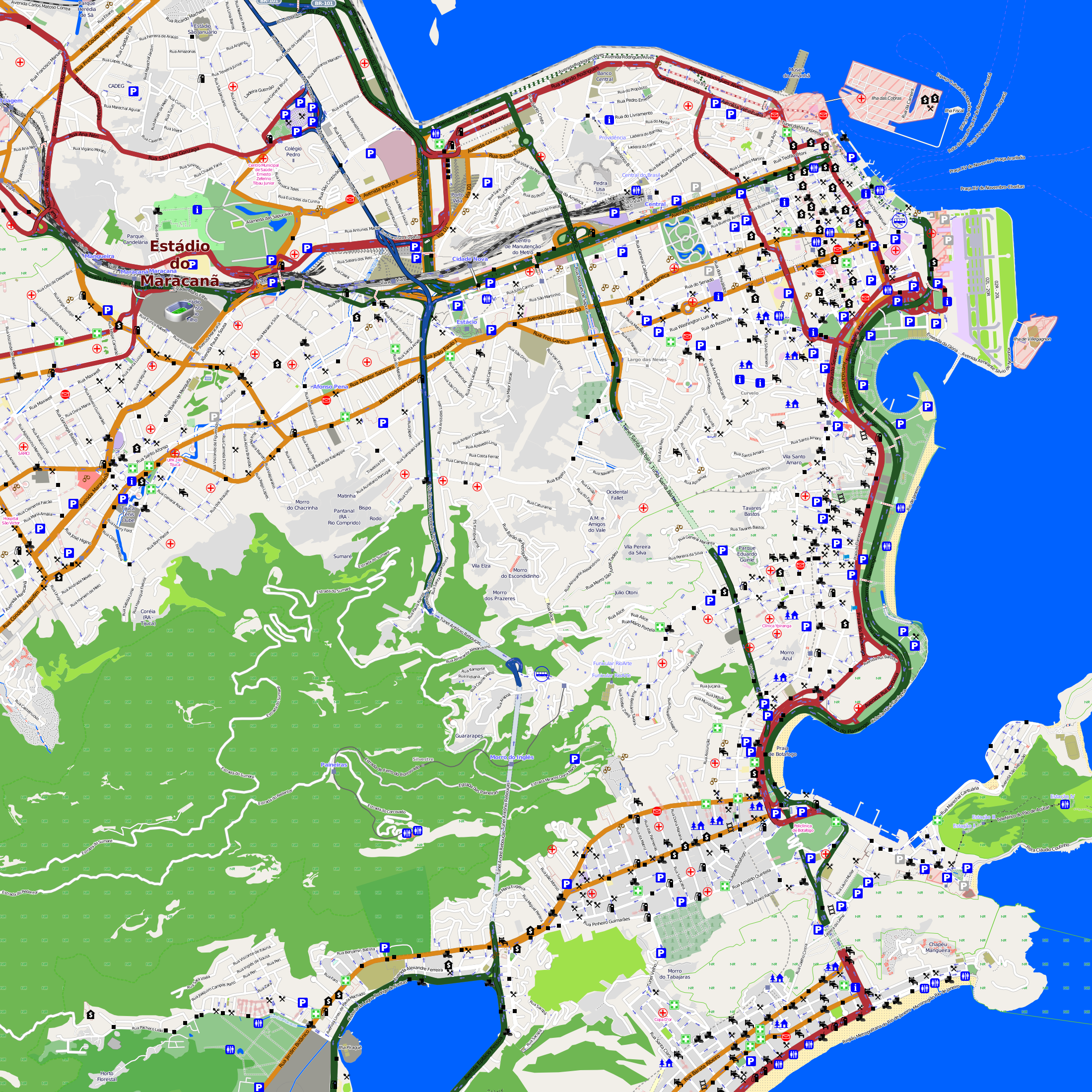 Rio De Janeiro Karte.Karten Und Stadtplane Favelas In Rio De Janeiro